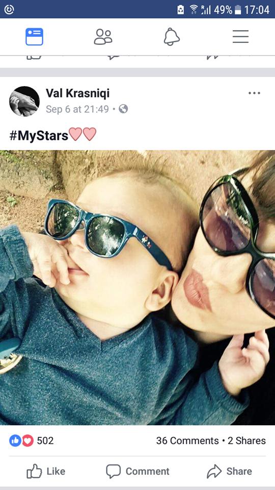 Vali poston një fotografi të djalit me Adelinen